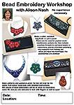 Bead Embroidery Workshop Leaflet